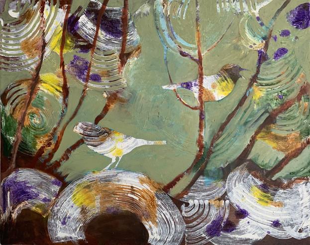Birds in the Garden IIII
