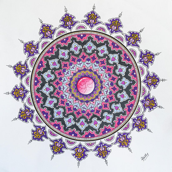 RED GEMSTONE MANDALA