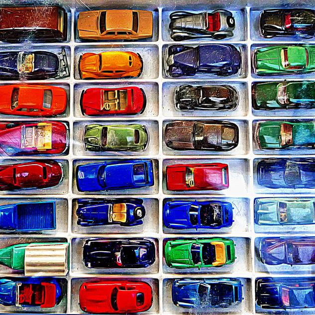 Retro toy cars