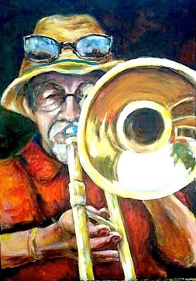 Reflection, Joe at his trombone