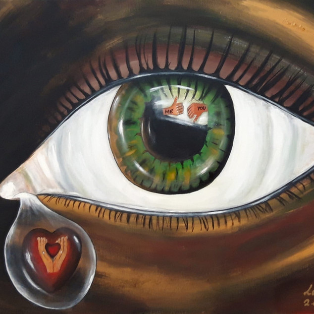 The eye that cries because of narcissism