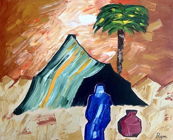 Blue Man in Sahara