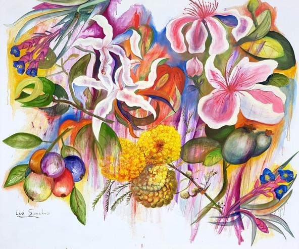 Flores y frutos del monte