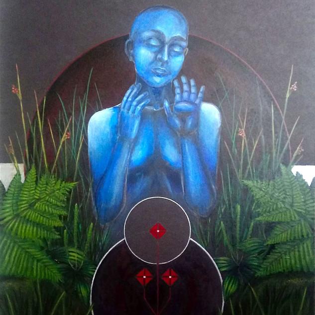 Sueño celeste en el mallín (el respirar de las plantas)