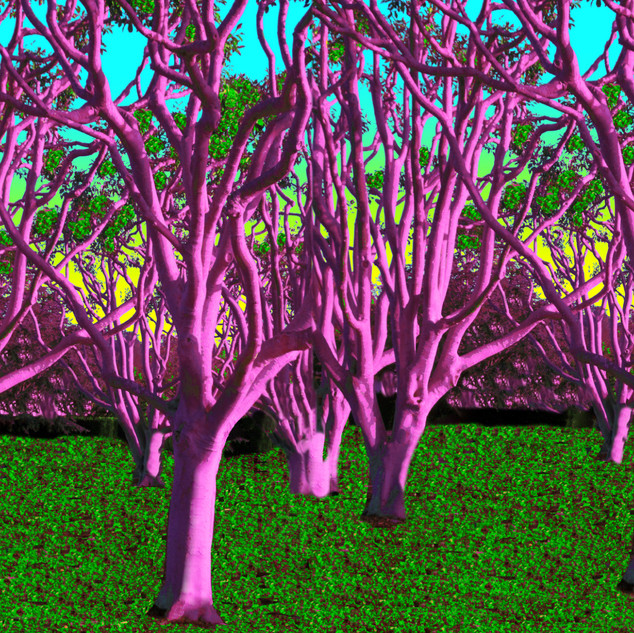 Spooky Pink Trees
