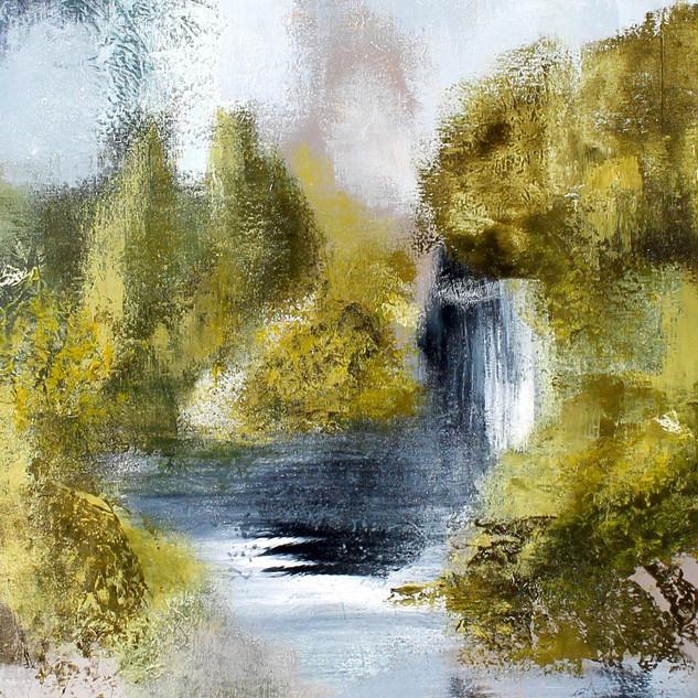 Under the waterfall on Norwegian called: Under Fossen