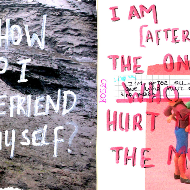 How do I befriend myself, when I am the one who hurt me the most?