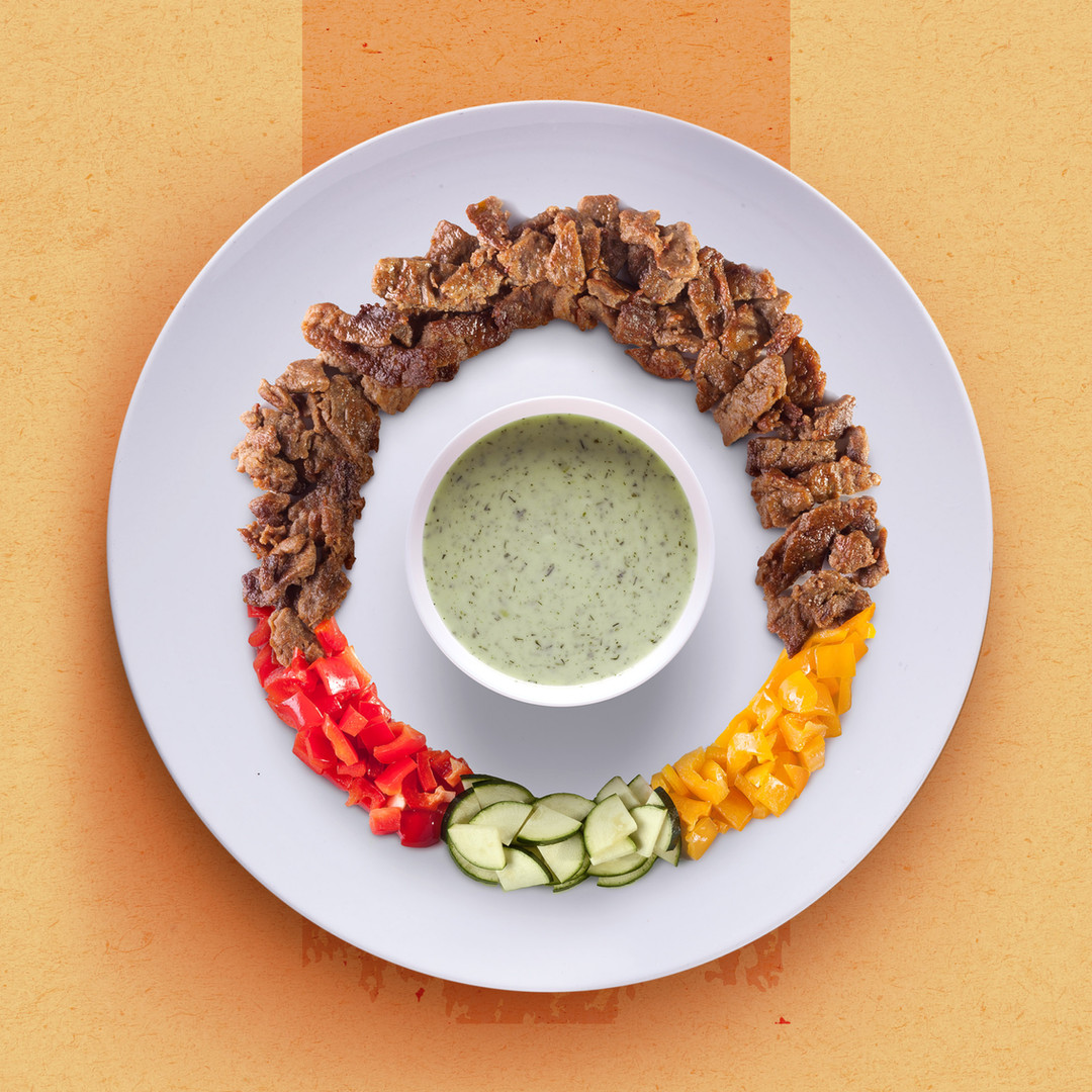 KEBAB WITH SAUTEED VEGETABLES