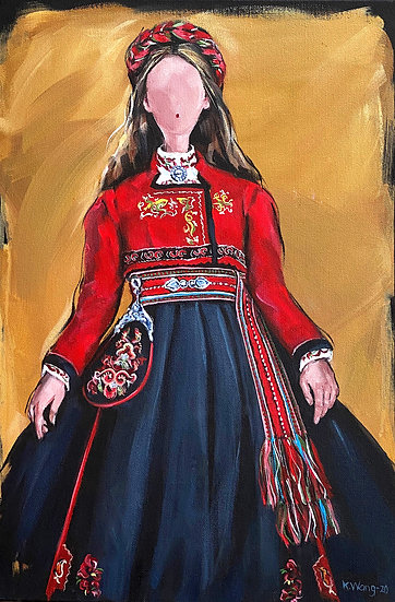 Woman from East-Telemark wearing traditional costume
