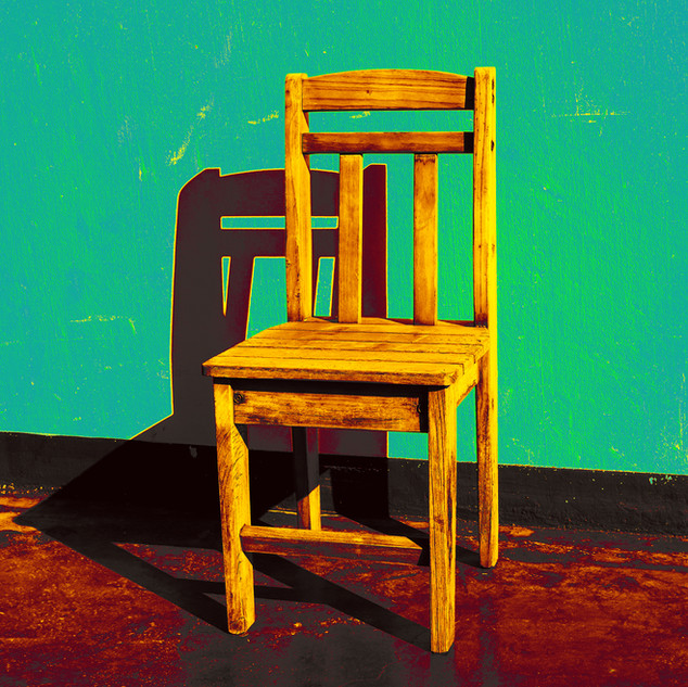Wooden Chair (Golden)