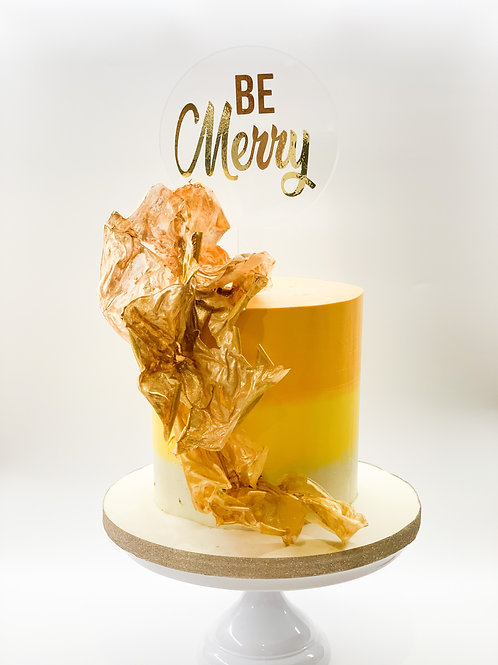 Be Merry acrylic cake topper
