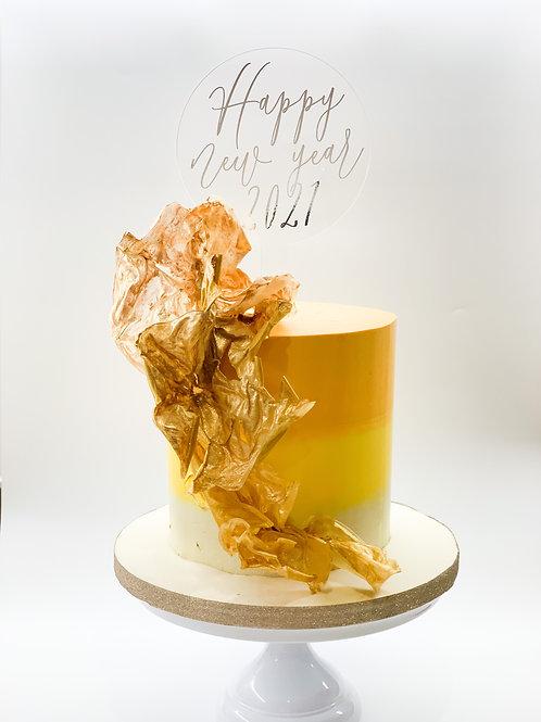 Happy New Year 2021 acrylic cake topper