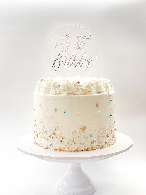 My 1st Birthday cake topper