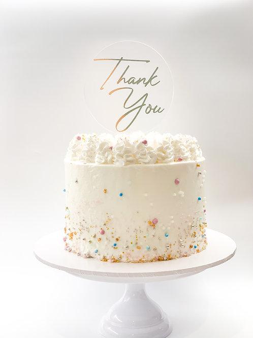 Thank you cake topper