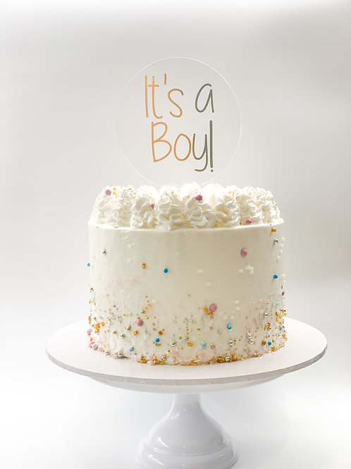 It's a boy or It's a girl cake topper