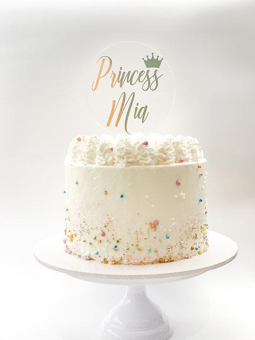 Princess personalised name cake topper