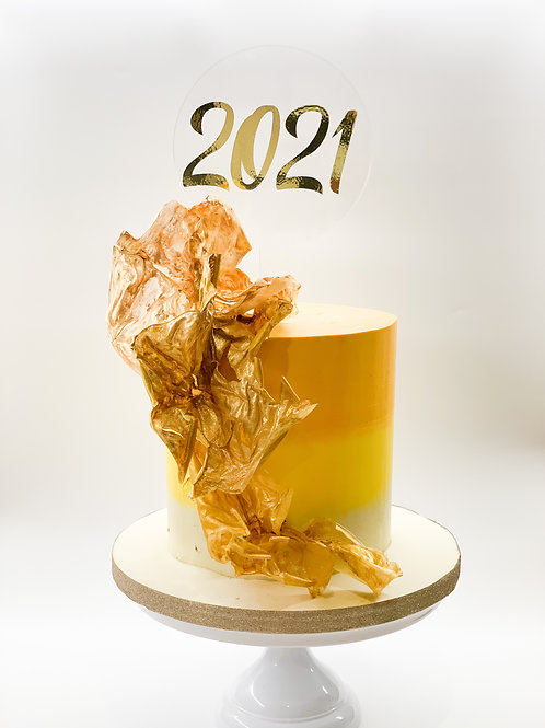 2021 New Year acrylic cake topper