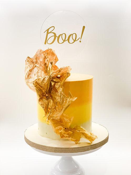Boo! Halloween - Acrylic cake topper