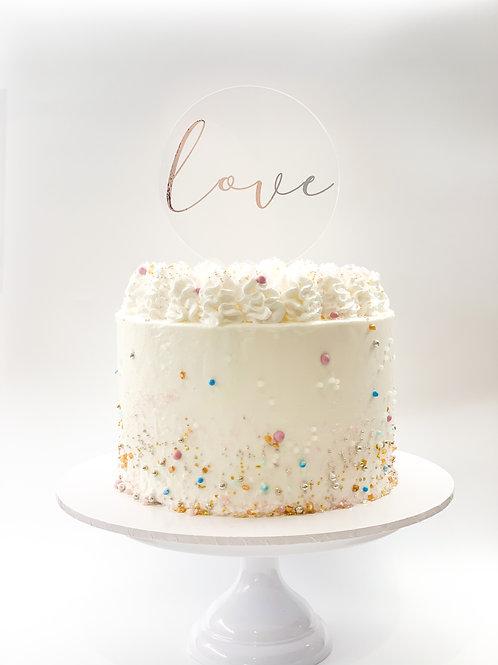 Love cake topper