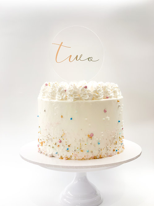 Personalised number in letters cake topper - Two