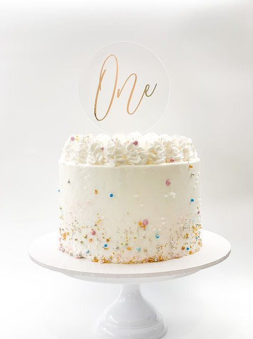 Personalised number in letters cake topper - One