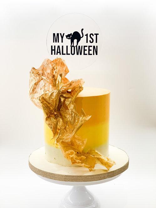 My 1st Halloween - Acrylic cake topper