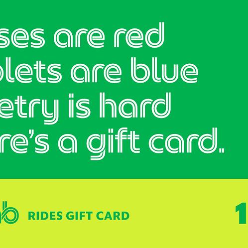 $15 Grab Ride Gift Card