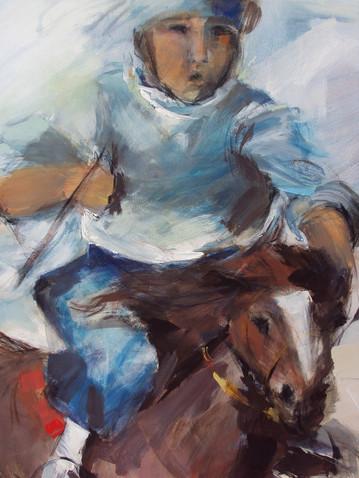 Gauchos a caballo (detalle)