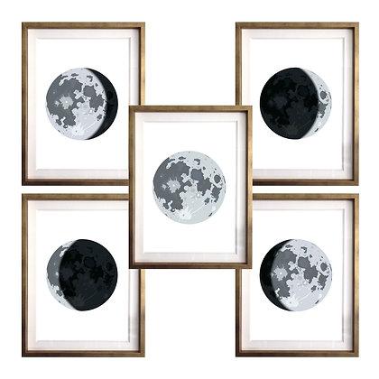 Fases lunares (5 diseños disponibles) / Desde 20.000 c/u