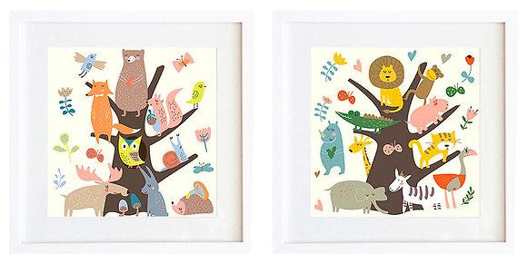 Animales bosque (2 diseños disponibles) / Desde 20.000 c/u