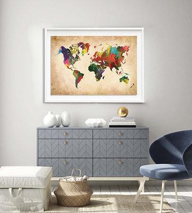 Mapa pineable pintura / Desde 75.000