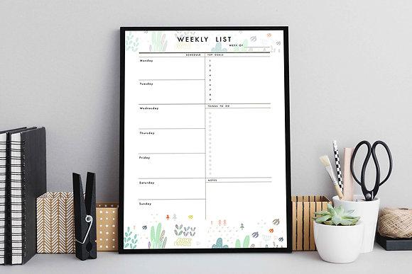 Planner semanal minimalista / Desde 25.000 c/u