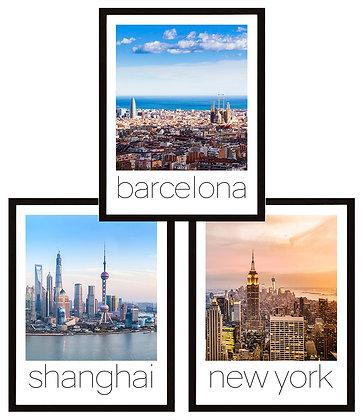 Ciudades del mundo / Color (10 diseños disponibles) / Desde 23.000
