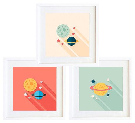 Planetas color (3 diseños disponibles) / Desde 20.000 c/u