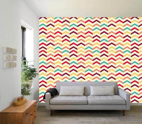 Papel Mural Zig-zag colores