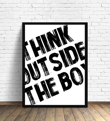 Think outside the box letras / Desde 23.000 c/u