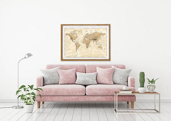 Mapa pineable sepia / Desde 75.000