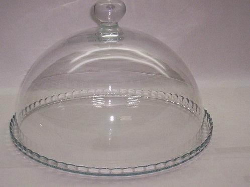Plato de torta sin base con cúpula liso