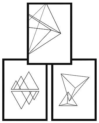 Triángulos minimalistas (3 diseños disponibles) / Desde 20.000 c/u