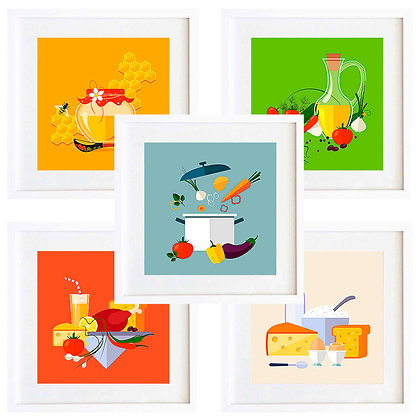 Comida colores II (9 diseños disponibles) / Desde 20.000 c/u