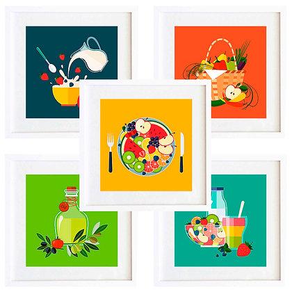Comida colores I (9 diseños disponibles) / Desde 20.000 c/u