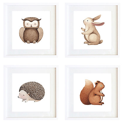 Animales tonos tierra (4 diseños disponibles) / Desde 20.000 c/u