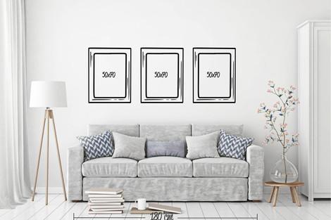 3 cuadros 50x70