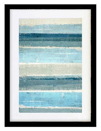 Abstracción azul 50x70 marco negro