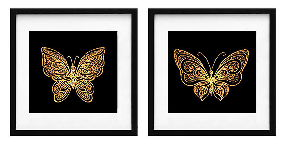 Mariposa dorada (2 diseños disponibles) / Desde 20.000 c/u