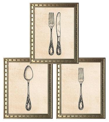 Cubiertos (3 diseños disponibles) / Desde 15.000 c/u