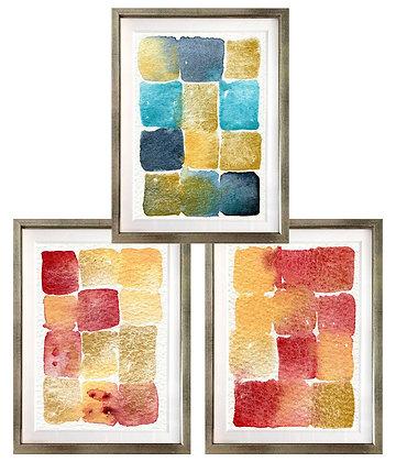 Rectángulos en acuarela (3 diseños disponibles) / Desde 23.000 c/u
