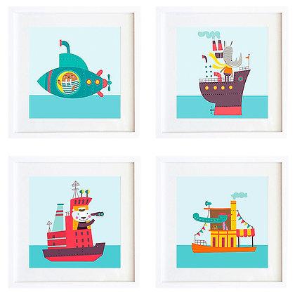 Barcos (4 diseños disponibles) / Desde 20.000 c/u
