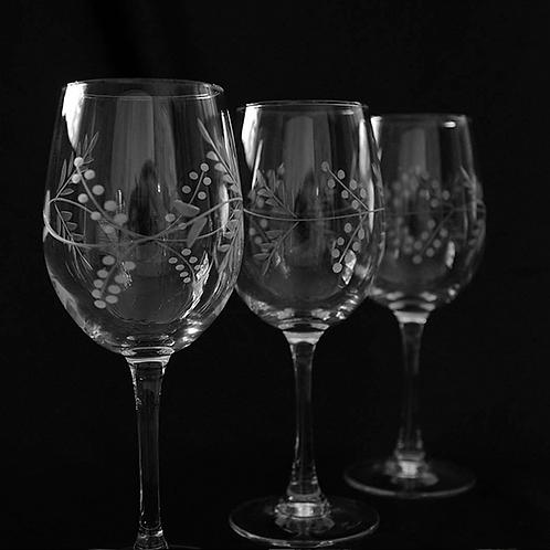 Set 6 copas talladas medianas