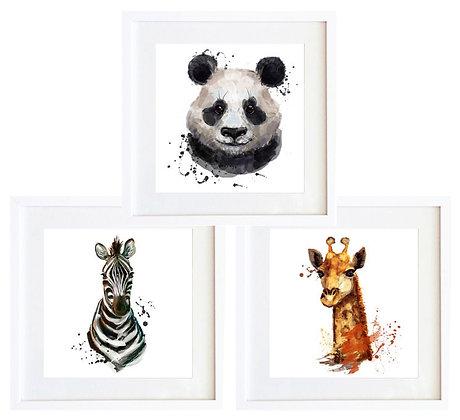 Retratos animales acuarela (3 diseños disponibles) / Desde 20.000 c/u